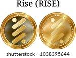 set of physical golden coin...   Shutterstock .eps vector #1038395644