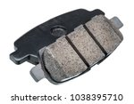 the brake pads  composite car... | Shutterstock . vector #1038395710