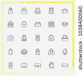 bags line icon set travel bag ...   Shutterstock .eps vector #1038400060