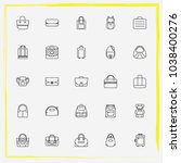 bags line icon set clutch ... | Shutterstock .eps vector #1038400276