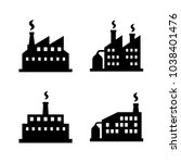 factory icon set | Shutterstock .eps vector #1038401476
