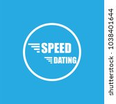 speed dating icon flat vector...   Shutterstock .eps vector #1038401644