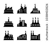 factory icon set | Shutterstock .eps vector #1038402826