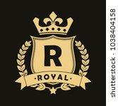 royal design logo with shield ...   Shutterstock .eps vector #1038404158