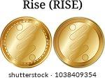 set of physical golden coin...   Shutterstock .eps vector #1038409354
