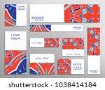 set of web banner templates for ... | Shutterstock .eps vector #1038414184
