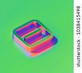 metallic minus in square icon... | Shutterstock . vector #1038415498
