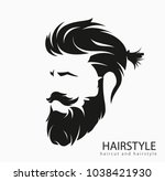 mens hairstyle and hirecut with ... | Shutterstock .eps vector #1038421930