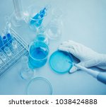 scientist research chemistry at ... | Shutterstock . vector #1038424888