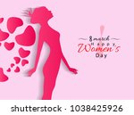 womens day illustration in... | Shutterstock .eps vector #1038425926