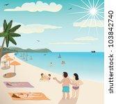 illustration of a white sand... | Shutterstock . vector #103842740