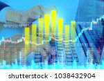 businessman on digital stock... | Shutterstock . vector #1038432904