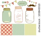 glass jars  frames and cute... | Shutterstock .eps vector #103843310