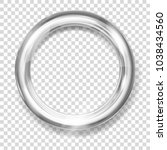 big silver metallic ring with... | Shutterstock .eps vector #1038434560