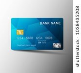 realistic detailed credit cards.... | Shutterstock .eps vector #1038435208