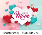 mother's day greeting card... | Shutterstock .eps vector #1038435973