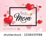 mother's day greeting card... | Shutterstock .eps vector #1038435988