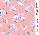 rose illustration pattern. i... | Shutterstock .eps vector #1038436570