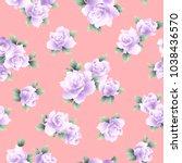rose illustration pattern. i...   Shutterstock .eps vector #1038436570