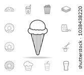 ice cream line icon. detailed... | Shutterstock .eps vector #1038438220