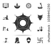 indian pattern icon. detailed... | Shutterstock .eps vector #1038441250