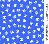 footprint pattern of the animal ... | Shutterstock .eps vector #1038442156