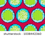 textile fashion african print...   Shutterstock .eps vector #1038442360