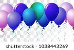 helium balloons realistic... | Shutterstock .eps vector #1038443269