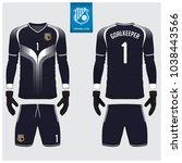 goalkeeper jersey or soccer kit ...   Shutterstock .eps vector #1038443566