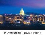 washington  d.c. city skyline... | Shutterstock . vector #1038444844