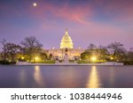 the united states capitol...   Shutterstock . vector #1038444946