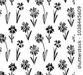 vector seamless pattern of ink... | Shutterstock .eps vector #1038445609