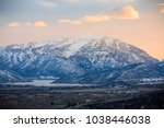 winter sunset in the wasatch... | Shutterstock . vector #1038446038