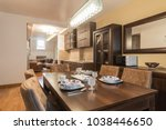 dining room interior | Shutterstock . vector #1038446650