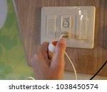 selective focus of a patient's...   Shutterstock . vector #1038450574