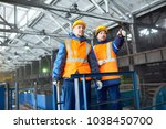 team of hard working... | Shutterstock . vector #1038450700