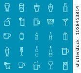 beverage line color icons on... | Shutterstock .eps vector #1038453814