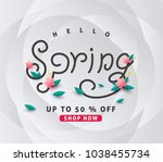 spring sale background layout... | Shutterstock .eps vector #1038455734