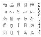 mini icon set   furniture icon... | Shutterstock .eps vector #1038455953