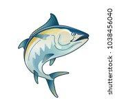 tuna blackfin vector...   Shutterstock .eps vector #1038456040