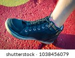 shoelace tied into braided knot....   Shutterstock . vector #1038456079