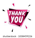 thank you  greeting card or... | Shutterstock .eps vector #1038459226