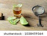 lime lemon honey with lime... | Shutterstock . vector #1038459364