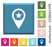 poi gps map location white... | Shutterstock .eps vector #1038461398