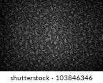 Small photo of black floral pattern