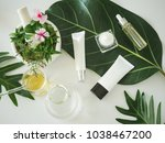 cosmetic package containers .... | Shutterstock . vector #1038467200