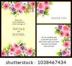 vintage delicate invitation... | Shutterstock .eps vector #1038467434