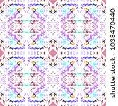 tribal seamless pattern. hand... | Shutterstock . vector #1038470440