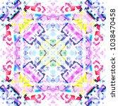 tribal seamless pattern. hand... | Shutterstock . vector #1038470458