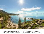 lake tahoe east shore overview...   Shutterstock . vector #1038472948